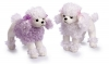 grossiste destockage   Lot de 2 peluches caniche ...