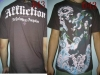 grossiste destockage  habillement Neuf affliction t-shirt h ...
